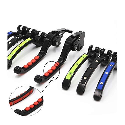 WERTYU Accesorio Motocicleta Vespa CNC de Aluminio del Freno de Embrague Palanca de Ajuste fit for Duke Freno de la Motocicleta palancas de Embrague Palanca Plegable para Motocicleta (Color : Red)