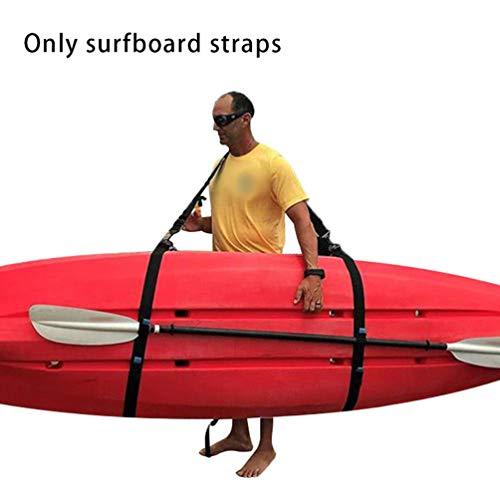Correa de Hombro para Tabla de Surf Accesorios prácticos para Tablas de Surf Eslinga de Transporte Ajustable Stand Up Surf Surf Paddle Board Carrier (Negro)