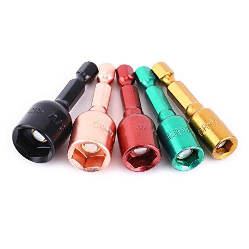 Jadeshay Adaptador de Enchufe de Impacto 5 uds, Destornillador eléctrico Colorido, Adaptador...