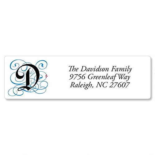 Gothic Monogram Personalized Return Address Labels – Set of 240, Small Self-Adhesive, Flat-Sheet Labels (4 Designs), by Colorful Images