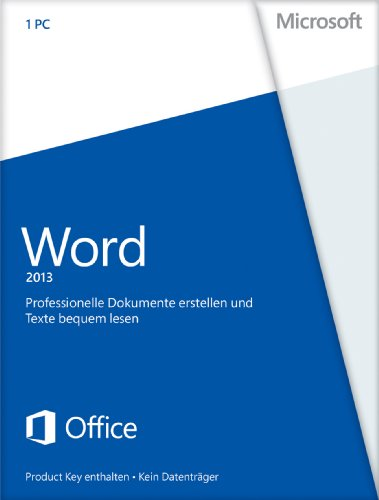 Office Word 2013 (product key card ohne datenträger) [import allemand]