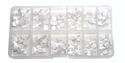 World of Nails-Design Lot de 120 mini capsules blanches pour French manucure.