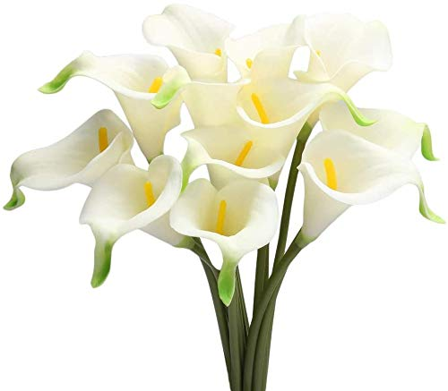 Raelf 12 flores artificiales, ramos, flores artificiales, flores secas, suelo a techo, decoración de plantas simples, flores de mesa, lirios, ramos de boda, decoración de bodas, decoración de bodas