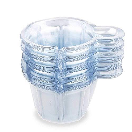 JinYu 50 Stück Urin Becher Kunststoff Urin Sammelbecher Einweg Urin Probenbecher für Schwangerschaft Test, 40 ml/ 50 ml (50ml)