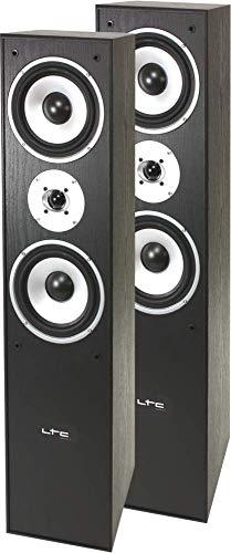 LTC L766-BL 3-Wege HiFi Lautsprecher Boxen 350W SCHWARZ Surround Sound TV Stereo Event Musik BESCHALLUNGSANLAGE