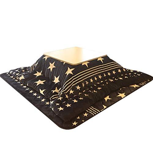 AILI Japanischer Kotatsu-Tisch mit Heizung und Decke, Multifunktionskochentisch Massivholz Tischplatz Futon Couchtisch