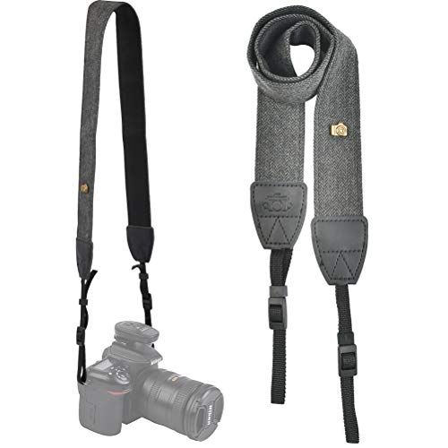 YANSHON Kameragurt Schultergurt, Verstellbar Gepolstert Tragegurt, Nackengurt geeignet für Kameras