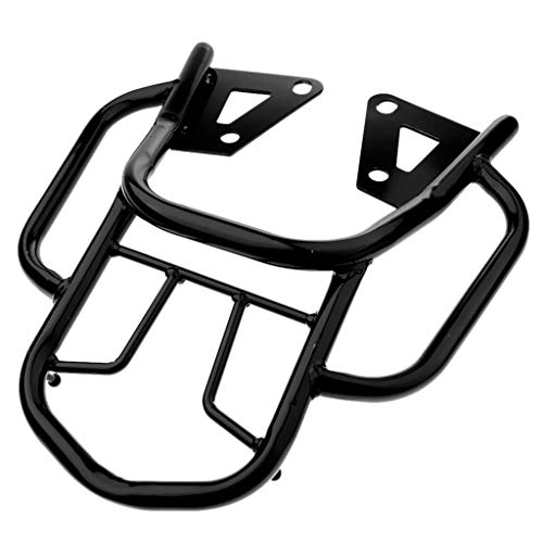 for Honda Grom Msx125 Motorcycle Rear Luggage Rack Holder Motorcycle Rear Solo Seat Fits Luggage Rack Support Shelf Accessory (Black)