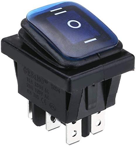 1 interruptor basculante de luz impermeable universal para coches de 12 V de 12 voltios de corriente continua (negro)