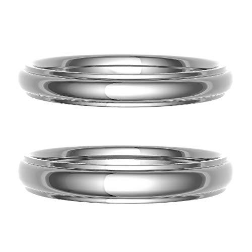 [ココカル]cococaru ペアリング 結婚指輪 シルバー 2本セット マリッジリング 日本製 (レディースサイズ20号 メンズサイズ8号)