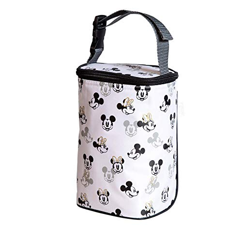 Disney Baby by J.L. Childress Tall TwoCOOL Breastmilk Cooler, Baby Bottle & Baby Food Bag, Mickey Minnie Ivory
