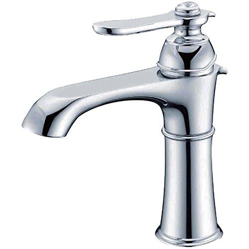 Wasserhahn Bad Waschtischarmatur Chrom Messing Mischbatterie Armatur Bad Waschbeckenarmatur Badarmatur Waschbecken Wasserhahn badezimmer mit Kristallglas