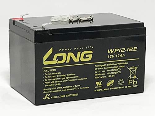 高サイクルタイプ LONG 12V 12Ah 高性能シールドバッテリー WP12-12E 電動バイク 電動リール モーター系電源に