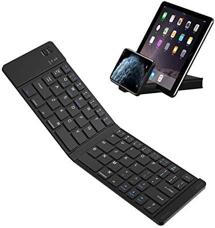 Foldable Bluetooth Keyboard IKOS Ultra Slim Folding Keyboard Mini Wireless BT Keyboard Compatible product image
