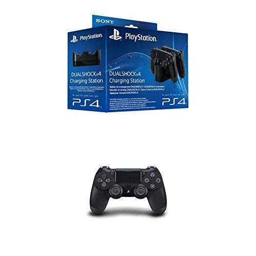 PlayStation 4 - DualShock 4 Ladestation + PlayStation 4 - DualShock 4 Wireless Controller, schwarz (2016)