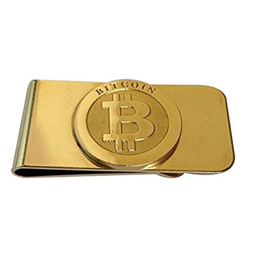 Fa.Wessel FA.WESSEL Bitcoin Geldscheinklammer Edelstahl vergoldet. Edel und elegant für Männer mit Stil und Klasse | Geldklammer | Money Clip | Geldclip | BTC | Crypto