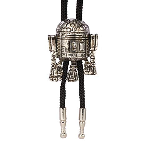 Knighthood Silberne R2 Roboterkragen-Zubehör/Bolo-Krawatten/Fliegen/Abzeichen für Mäntel, Anzug, Hochzeitsgeschenk, Party, Hemdkragen, Accessoires, Brosche für Herren