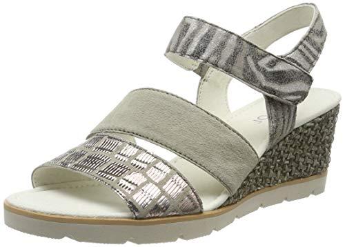 Gabor Shoes Damen Gabor Basic Riemchensandalen, Grün (Schilf 38), 40 EU