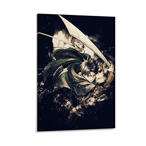 STTYE Lienzo de Attack on Titan con arte popular y unico sobre lienzo de pintura al oleo (20 x 30 cm)