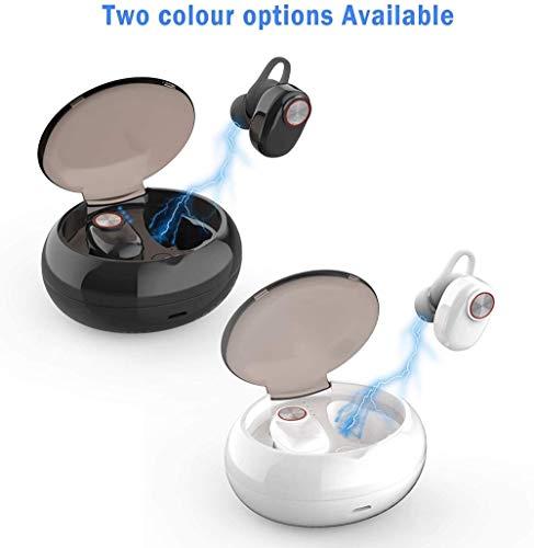 Verdaderos Auriculares inalámbricos Bluetooth Auriculares TWS In Ear Sports Mini 25H Playtime Deep Bass 20m Range HD 3D 5.0 Auriculares con cancelación de Ruido con micrófono IPX7 Resistente