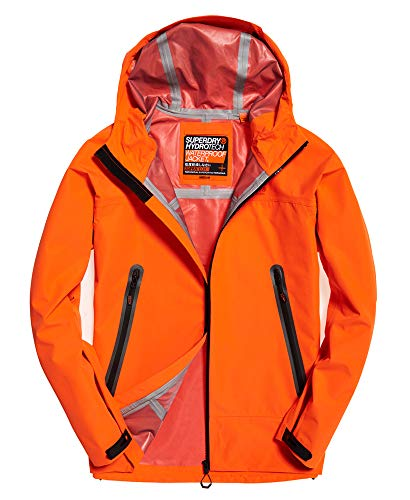Superdry Hombre Chaqueta Impermeable Hydrotech Naranja XL