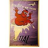 SYBS Abstraktes Dekor Neuseeland NEUSEELAND NAC Airways