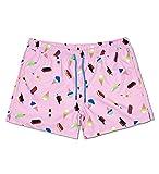 Happy Socks Ice Cream Swim Short Costume a Pantaloncino, Rosa, M Uomo