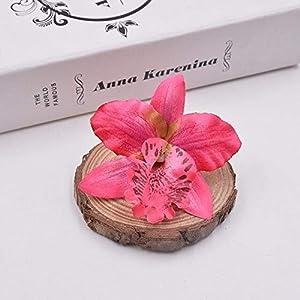 Silk Flower Arrangements BoKa Store - 10pcs Silk Orchid Artificial Flower Gladiolus for Wedding Car Home Decoration Orchs Mariage Lily Flores Cymbidium Flowers Plants - Dark Pink Decorative Flowers