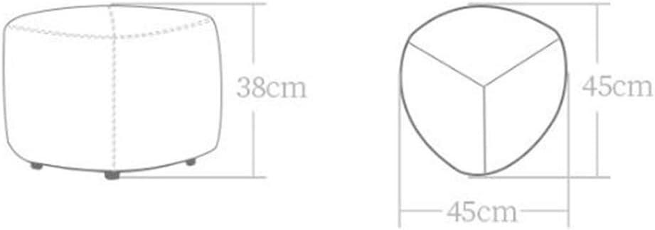GWM Tabouret, Petit Siège, Creative Canapé Paresseux Table Basse Tabouret Banc Tissu Bloc Modern Footstool Accueil Petit Tabouret (Color : Apricot Yellow) Blue-yellow
