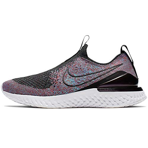 Nike Epic Phantom React Flyknit Boys Shoes Size 6.5, Color: Black/Black/University Red