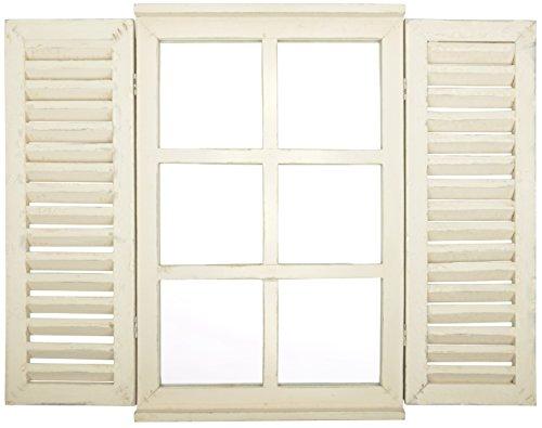 Esschert Design WD35 Spiegelfenster, Weiß