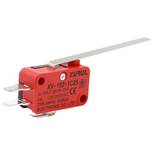 CESFONJER 12 pcs T125 Charni/ère Type De Levier Miniature Micro Switch SPDT Snap Action Commutateur Snap Action pour Arduino