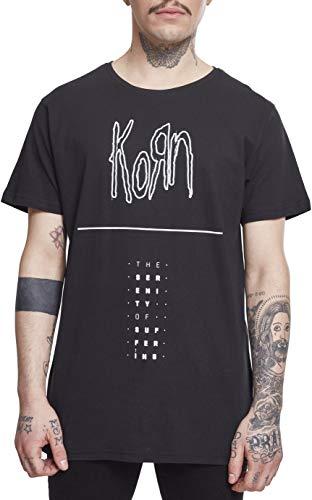 MERCHCODE Herren Korn Serenity Tee T-Shirt, Black, L