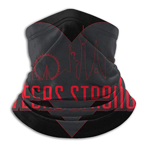 hasakii Vegas Strong Women Fleece Neck Warmer Neck Gaiters Warm Novelty Bandana Face Mask Neck Scarf