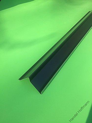 Ortgangblech 2 m lang Aluminium farbig 0,8 mm (klein, Anthrazit)