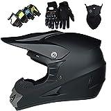 LCRAKON Kinder Motocross Helm mit Downhill Brille, MJH-02 Offroad Pro Jugend Adult Sport...