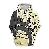 Camiseta de Totoro, Sudadera con Cremallera con Capucha de Totoro, Unisex de Moda clásico Anime 3D Impreso Camisetas Sudadera Cosplay Disfraz