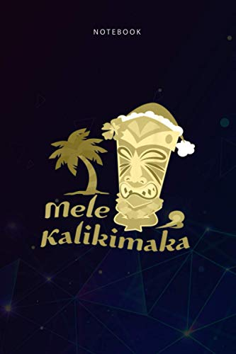 Basic 6x9 inch Lined Notebook Mele Kalikimaka Merry Christmas Hawaiian Tiki: 6x9 inch, Teacher, Daily, Planning, To Do List, Bud