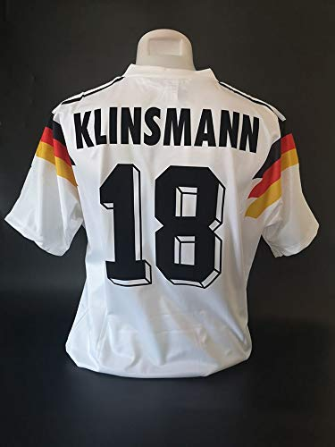 SU Jurgen KLINSMANN#18 Germany Retro Trikot 1990 White Color (M)