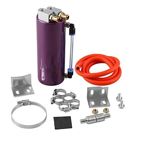 Piezas de automóviles 350ml transpirable Residuos de recuperación de petróleo depósito de recogida filtro puede aire Set de vagones Modificación Accesorio universal ( Color : Purple , Size : Free )