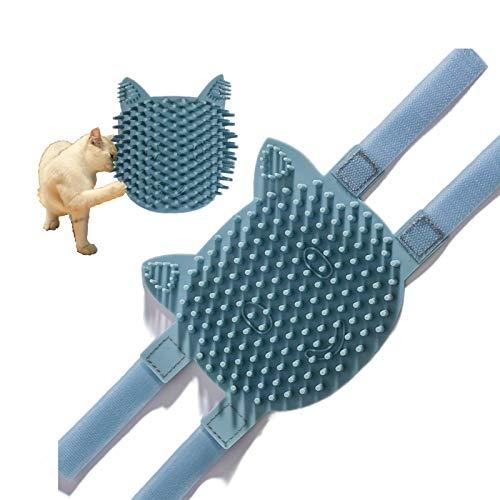猫ペット自己グルーミングの櫛のブラシ - 子猫の子犬のための多機能キャットニップの味のコーナーのマッサージ用具のリラックス、余分な柔らかいシリコーンのピンの便利な毛の脱皮のトリミング