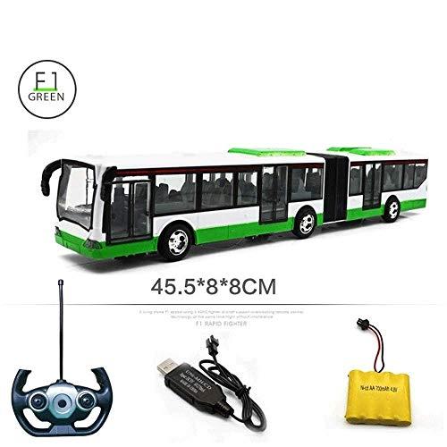 Remoto juguete Bus de control 6 canales de control remoto modelo de autobús de coches 2,4 Ghz ajustable de la puerta practicables luz LED Niños Diecast juguetes del coche for al aire libre interiores