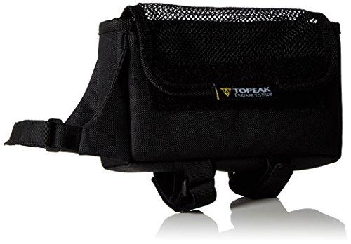TOPEAK Unisex-Adult TriBag All Weather Rahmentasche, Black/White, Large (18 x 10.2 x 4 cm, 0.72 L)