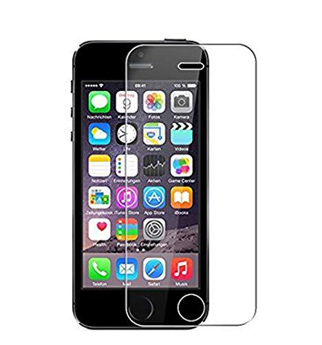 WEOFUN [3 Pezzi Compatibile con Vetro Temperato iPhone 5 SE 5S 5C [0.33mm, 9H, Alta Trasparente]
