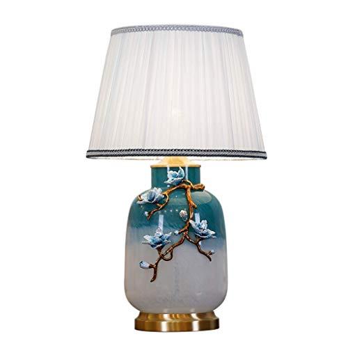 Jkckha Nordic Iluminación Decorativa, Reading lámpara- de Noche y romántica Creativa lámpara de Mesa Lámparas de Mesa Dormitorio de la lámpara de Cobre esmaltado Todo lámpara de Mesa Europeo Villa de