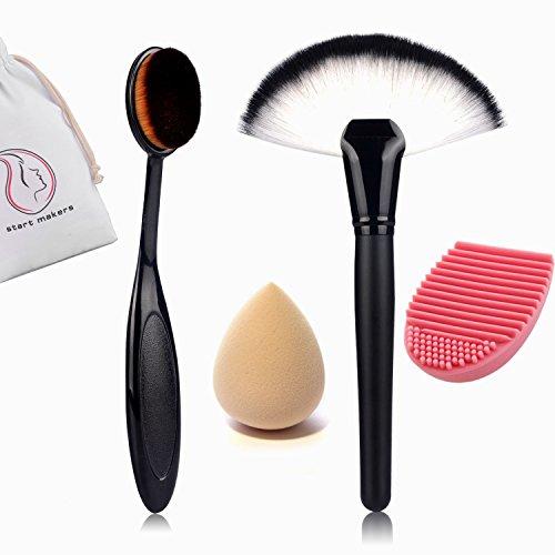 BESTOPE pennelli make up - Fondazione Curve Trucco Cosmetico Pro Spazzola Ovale