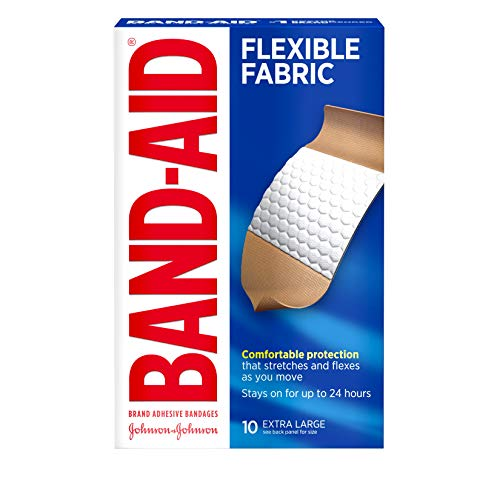 Flexible Fabric Extra Large Adhesive Bandages, 1-3/4' x 4', 10/Box