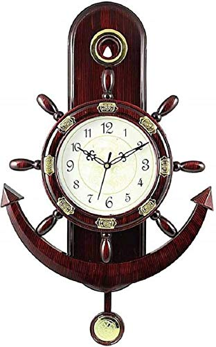 Baleno Crafts & Creations Plastic Pendulum Wall Clock (Brown_14 Inch X 10 Inch)