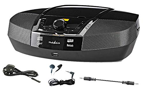 12 watt Portable COMPACT CD PLAYER Stereo Boombox, Built in Speakers,...