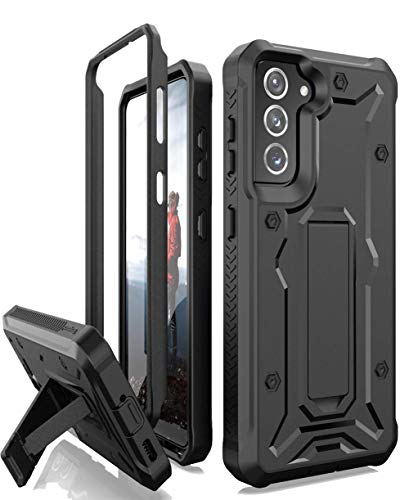 ArmadilloTek Vanguard Compatible with Samsung Galaxy S21 Plus Case, Military Grade Full-Body Rugged with Built-in Kickstand [Screenless Version] - Black